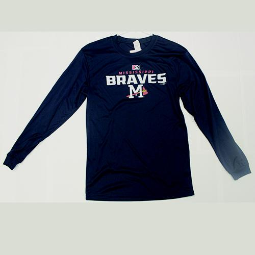 Mississippi Braves Dressing Performance LS Navy