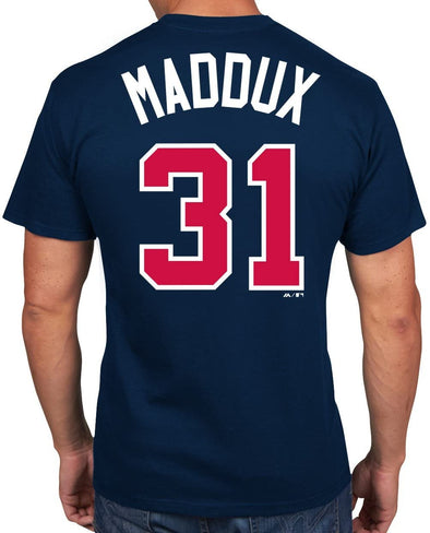 Greg Maddux Atlanta Braves MLB Cooperstown Collection Player Navy T-Shirt