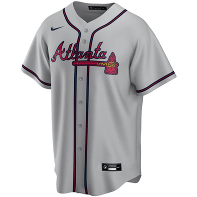 Grey Nike Braves Road Jersey