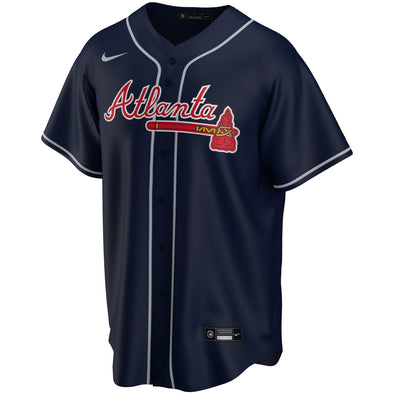 Navy Nike Braves Road Alternate Jersey