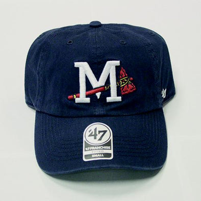 Mississippi Braves Cap Logo Navy Franchise Cap