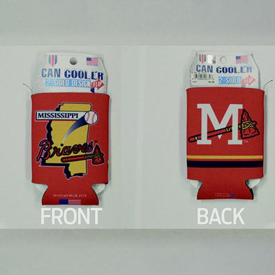 Mississippi Braves Red Can Cooler