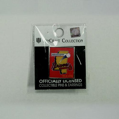 Mississippi Braves Primary Logo Pin