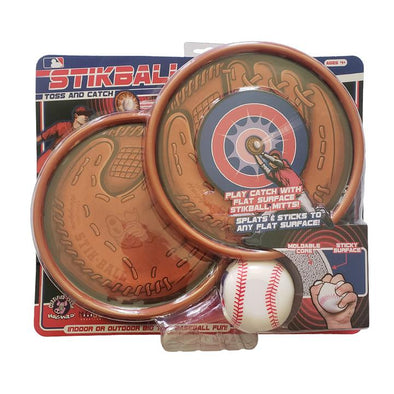 Hog Wild Stikball Toss and Catch - Sticky Baseball and 2 Catcher Mitt Targets