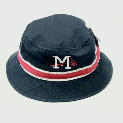 Mississippi Braves Striped Navy Bucket Cap