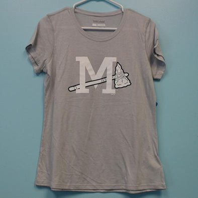 Mississippi Braves WMS Solarshield Grey Tee