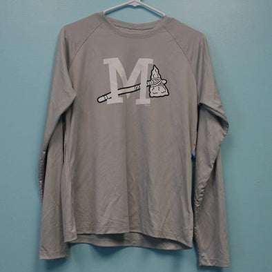 Mississippi Braves WMS TERMINAL GREY LS