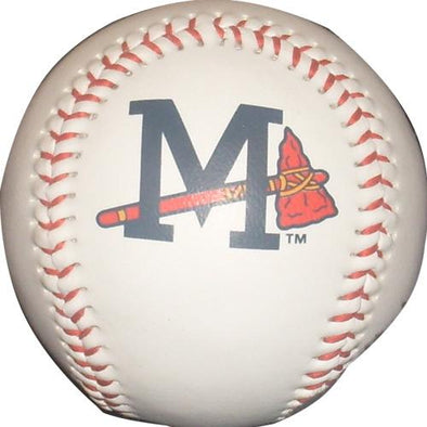 Mississippi Braves White Logo Baseball