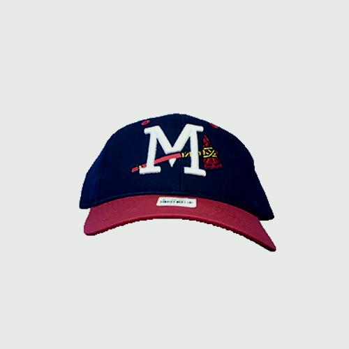 Mississippi Braves Yth Navy Red Cap