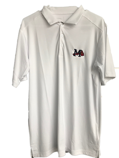 White M Logo Tribute Polo