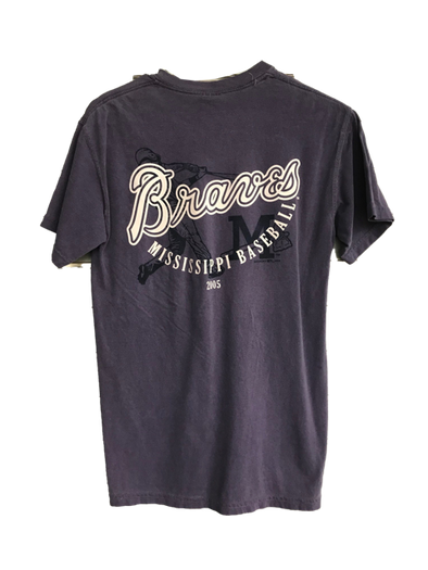 Braves Wordmark Grape Tee