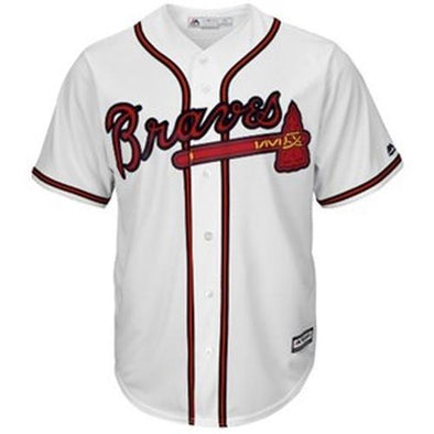 Youth White Majestic Replica Braves Jersey