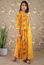 Load image into Gallery viewer, Yellow & Orange Contemporary Angrakha Kurti