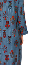Load image into Gallery viewer, Blue Floral Print Kurta