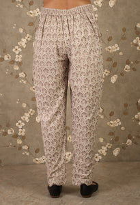 Grey daabu Printed Straight Pants