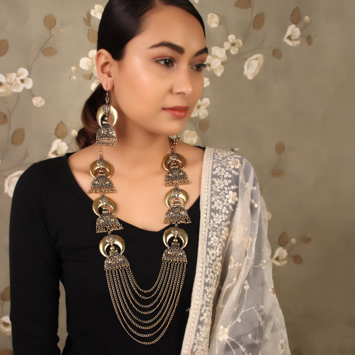 Luxurious Rani Haar With Earrings