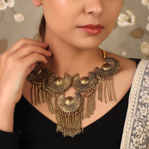The Shining Suns Statement Necklace