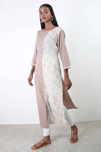 Plain makes Print Kurta