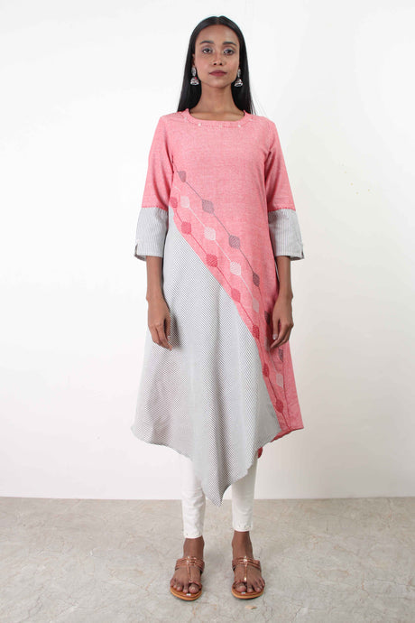 Chervish Peach Kurta