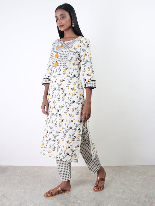 Birch Printed Kurta Pant set