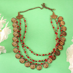 The Chinese Coin Multi-Stranded Necklace