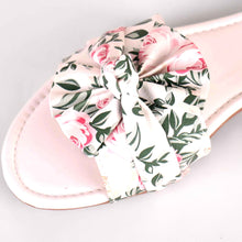 Load image into Gallery viewer, Bonita Fabric Flats in White