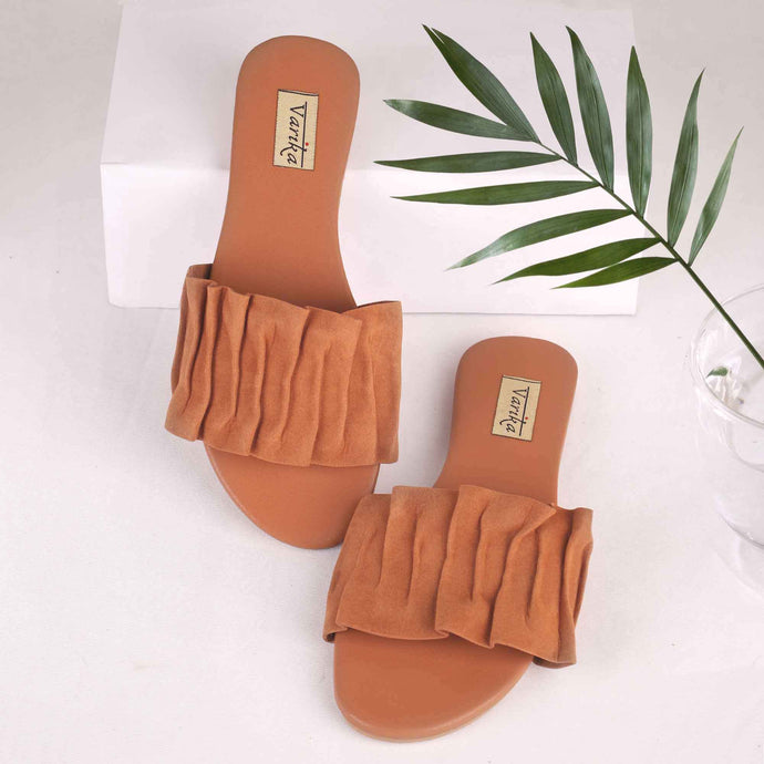 The Pretty Lady Slide Sandals in Brown