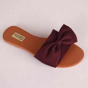 Bonita Fabric Flats in Brown