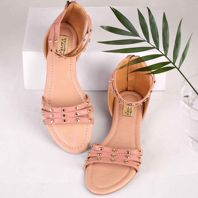 Bohemian Vibes Strappy Gladiators in Pink
