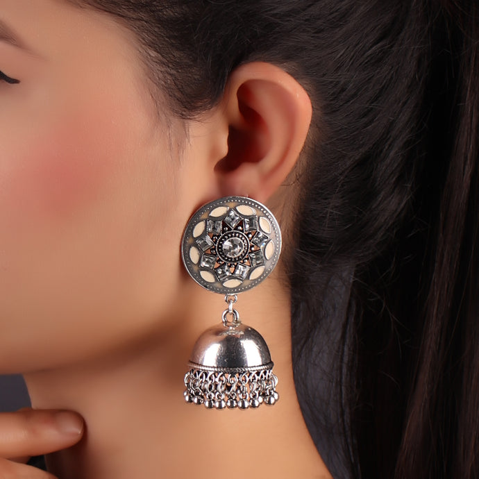 Bhumro Earrings With Jhoomar