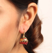 Load image into Gallery viewer, Quirky Jhumka In Red