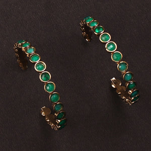 Berry Love Earrings In Emerald Color