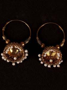 Golden Grace Jhoomer Earrings