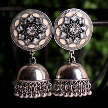 Load image into Gallery viewer, Sun Shaped Earrings With Jhoomar
