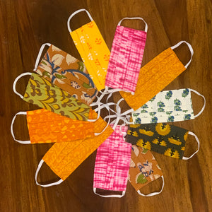 Surprise Pack : Assorted Collection of Cotton Printed Face Mask in a Set of 4