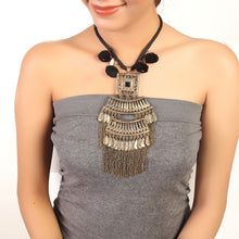 Load image into Gallery viewer, Pom-pom oxidised Neck-piece