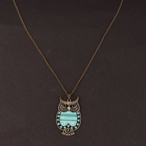 Ouch Owl Pendant Necklace