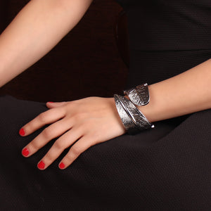 Silver Leaf Style Bracelet For Women