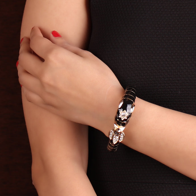 Black & Gold Designer Bracelet For Women