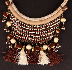 Tassel with bead Necklace