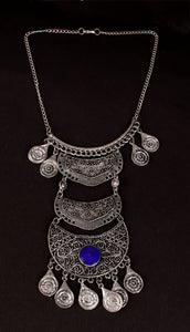 Sterling Blue oxidised necklace