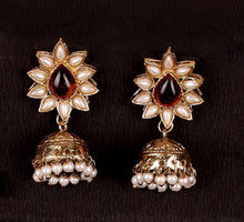 Load image into Gallery viewer, FLOWER JHUMKA