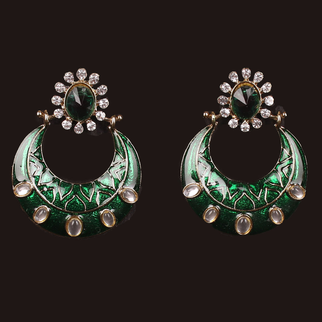 GREEN RUSH STONE EARRING