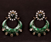 Load image into Gallery viewer, GREEN RUSH STONE EARRING
