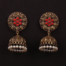 Load image into Gallery viewer, Gold Brass Jhumka