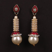Load image into Gallery viewer, Hanging pearl earrings