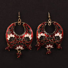Load image into Gallery viewer, Sizzling Sphere Earrings In Maroon