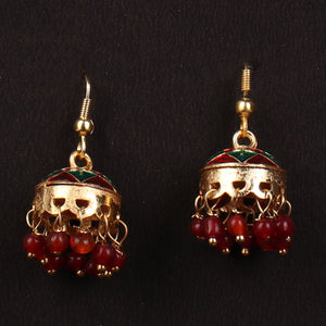 Quirky Jhumka In Red