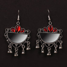 Load image into Gallery viewer, Simplicity Oxidized Earrings In Red