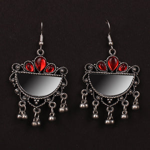 Simplicity Oxidized Earrings In Red